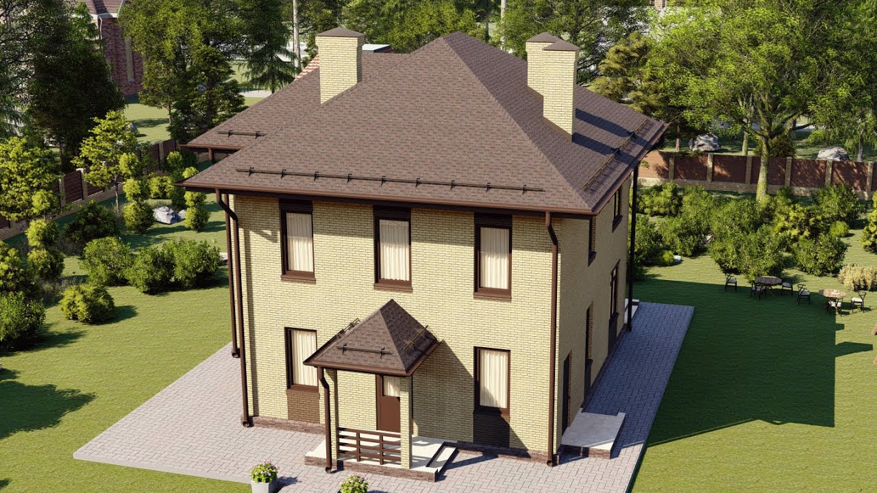 Проект двухэтажного дома из газобетона 10 на 10