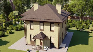 Проект дома 162-A, Площадь дома: 162 м2, Размер дома:  9,7x10,4 м
