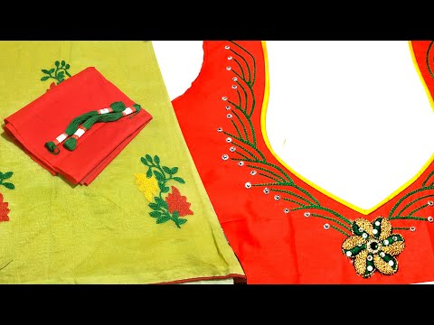 Beautiful Embroidery Blouse Back neck Design | Stylish blouse design 2020