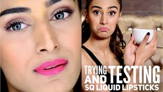 Stay Quirky - Liquid Lipstick - Testing and reviewing | Erica Fernandes | - Video Youtube
