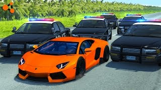 Beamng drive | Police Chase Fails, Crashes, Roadblocks (high speed crashes)