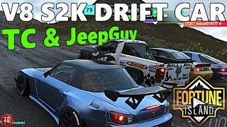 Forza Horizon 4: Fortune Island! V8 Widebody S2K Drift Car vs Deberti Drift Truck!! TC and JeepGuy