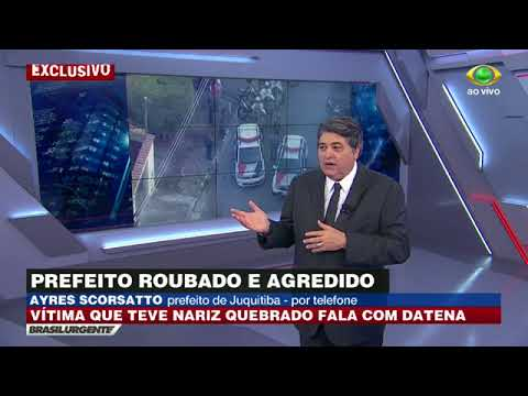 Após assalto, prefeito de Juquitiba fala com Datena