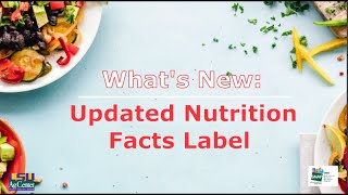 Understanding Nutrition Facts Label