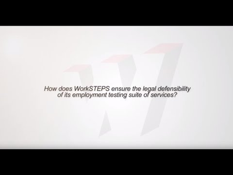 How does WorkSTEPS ensure the legal defensibility of its employment testing suite of services?