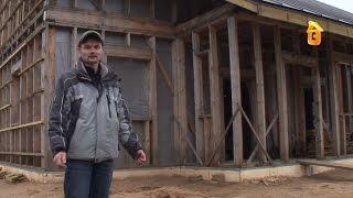 Смотреть онлайн Постройка недорого каркасного дома своими руками