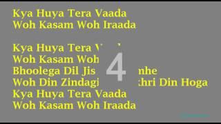Kya Hua Tera Wada(karaoke)