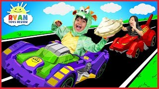Ryan BECOMES A DRAGON with OSMO Hot Wheel™ MindRacers! Family Fun Loser gets Pie in the face!