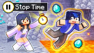 Stopping TIME To Help My FRIENDS In Minecraft!