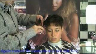 Curly Black Hair Girl Is Beautyful! Leilas Short Haircut By Theo Knoop.