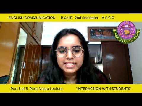 ENGLISH COMMUNICATION - PART - 5 By - MS KOMAL
