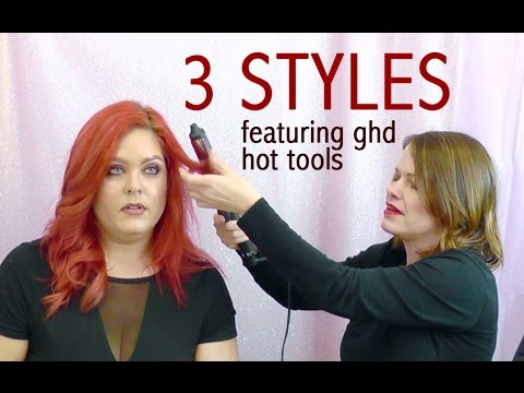 3 Hairstyles Using GHD Hot Tools