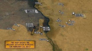 23 февраля 2017. Военная обстановка в Ираке. ИГИЛ применило дроны в Мосуле. Русский перевод.