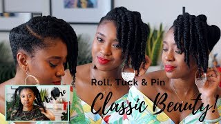 Simple Wash Day Style For Natural Hair | Roll, Tuck