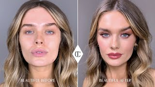 How To Perfect Red Eye Makeup With NEW! Walk Of Shame Palette Ft.Chloe Lloyd | Charlotte Tilbury