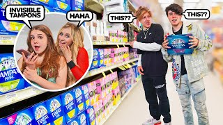 Asking My Boyfriend To Buy A FEMININE PRODUCT That Doesn't Exist...**PRANK**🍒  Piper Rockelle