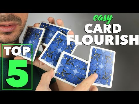 5 Easy Visual Card Flourishes Anyone Can Do - Cardistry Tutorial for Beginners