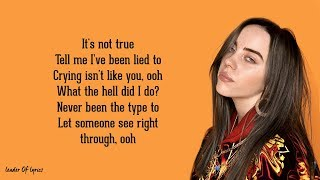 Billie Eilish   I Love You (Lyrics) 😪