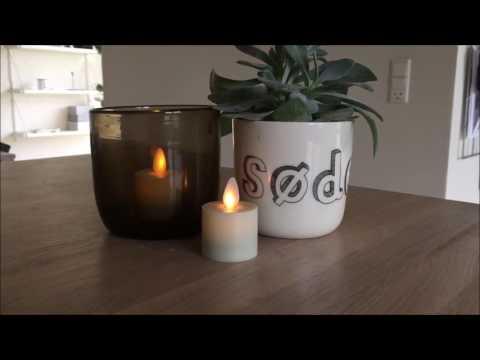 Moderne Led fyrfadslys med bevægelig flamme og timer | Pakke med 2 stk IL02