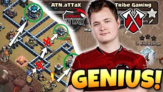 300 IQ PLANS FROM WORLD CHAMPIONS! ATN.aTTaX vs Tribe Gaming | Clash of Clans eSports
