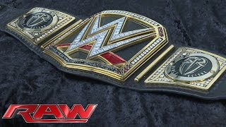 Roman Reigns receives his customized WWE Title plates: April 4, 2016