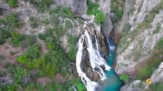 Birds eye view of the Uçansu Waterfall
