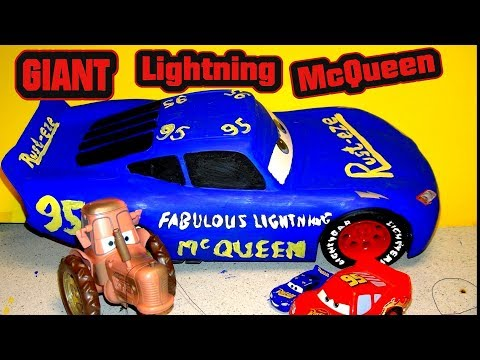 Pixar Cars 3 Extra Large Fabulous Lightning McQueen Custom Painted Tribute To Doc Hudson
