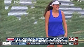 Sophomore Brittany Aguilar looks to go all out in the Ojai State Tournament