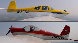 Biggest & Smallest Van's Aircraft (RV-10 VS RV-12) Fleet demo Flying