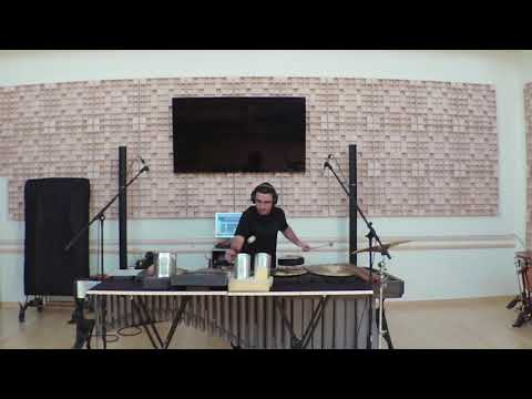 John Psathas - One Study for Marimba and Junk Percussion