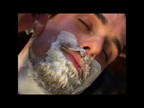 Straight Razor Shave – Barber Shaves Beard Off