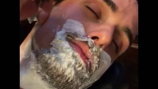 Straight Razor Shave - Barber Shaves Beard Off
