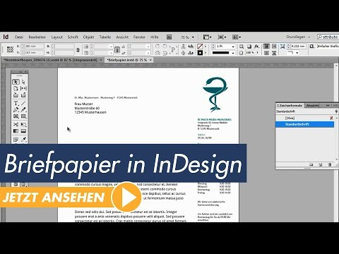 InDesign Tutorial: Professionelles Briefpapier erstellen