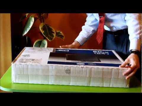 Unboxing TV LED Sharp LC-24LE510E