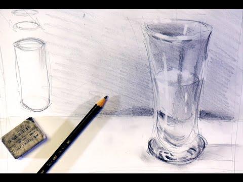 Glasvase zeichnen | Ganz einfach zeichnen lernen 5