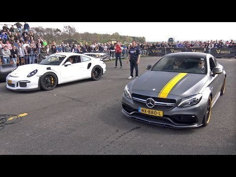 Mercedes AMG C63 S Coupé Edition 1 Vs Porsche 991 GT3 RS