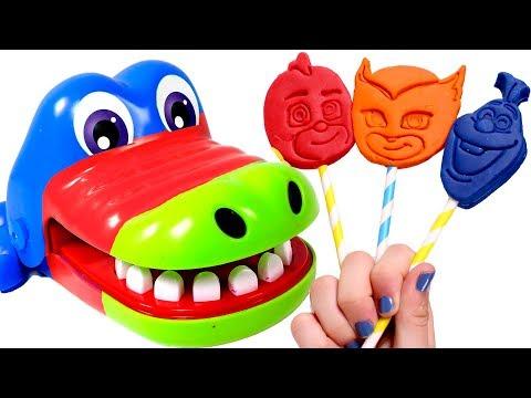 🌈 LOS COLORES 🌈 Aprendemos los colores con el Cocodrilo y Piruletas de Play Doh  Videos para niños