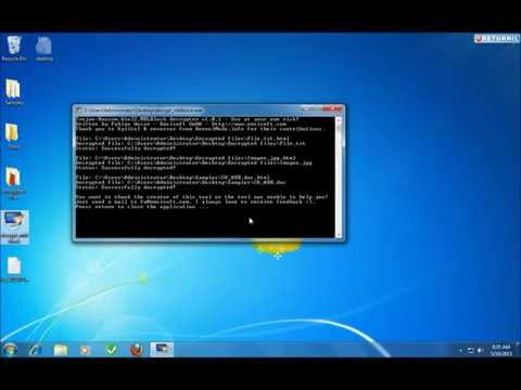 Decrypt files with Decrypt_mblblock exe - Decrypt Protect