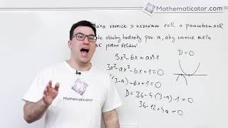 Matematika+ 2018 - 1. Kvadratická rovnice s parametrem