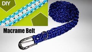 DIY how to make a Macrame Belt
