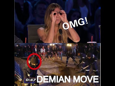 HOW DEMIAN ADITYA ESCAPED FROM DEATH SLOW MOTION DISPLACEMENT | AMERICA'S GOT TALENT 2017 (видео)