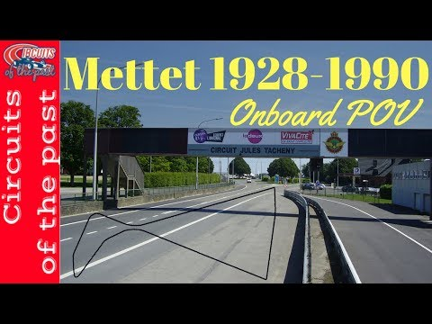Mettet Circuit Layout 1928 - 1990 Onboard POV with map