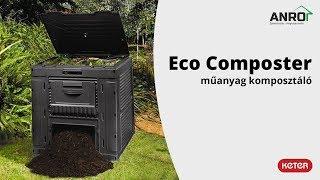 Videó: Keter Eco composter műanyag komposztáló