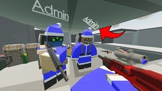 RAIDING WITH ADMIN ARMOR! - ABUSIVE ADMIN SKY BASE RAID! | Unturned