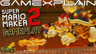 10 Minutes of Super Mario Maker 2 Gameplay! Surprising Meowser Attacks! + Delightful 3D World Music