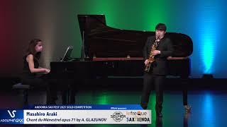 Masahiro Araki plays Chant du Ménestrel opus 71 by Alexander GLAZUNOV