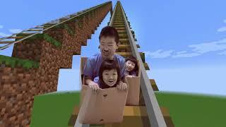 マイクラでドライブスルーごっこ Minecraft Drive Thru Pretend Play!