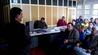 Adoption of ULB Jubbal meeting by Dr L C sharma