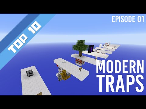 Top 10 Redstone Contraptions  Modern Traps Minecraft 18 Minecraft Project