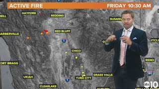 The Red Bank Fire in Tehama County and Walker Fire in Plumas County explained